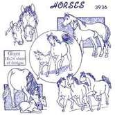Horses Embroidery Transfer Pattern